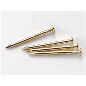 ホビー・エトセトラ 便利 日用品  (まとめ買い)しんちゅうメッキ釘 25mm 100本 【×30セット】