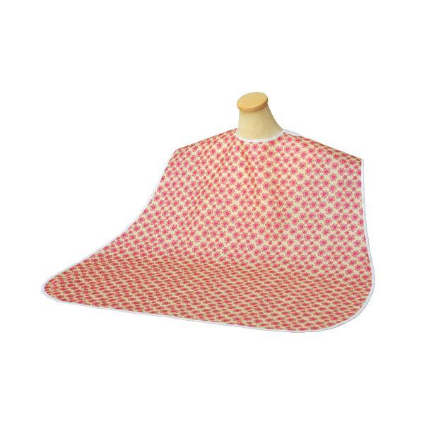 (まとめ)竹虎 食事用エプロン ソフラピレンエプロン パンジー (2)ピンク 2717 102271【×5セット】