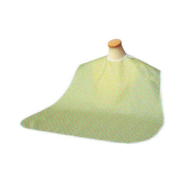 (まとめ)竹虎 食事用エプロン ソフラピレンエプロン パンジー (3)グリーン 102272【×5セット】