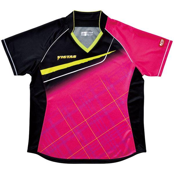 生活日用品 ヤマト卓球 VICTAS(ヴィクタス) 卓球アパレル V-LS037 Viscotecs ゲームシャツ(女子用) 031460 ピンク Sサイズ