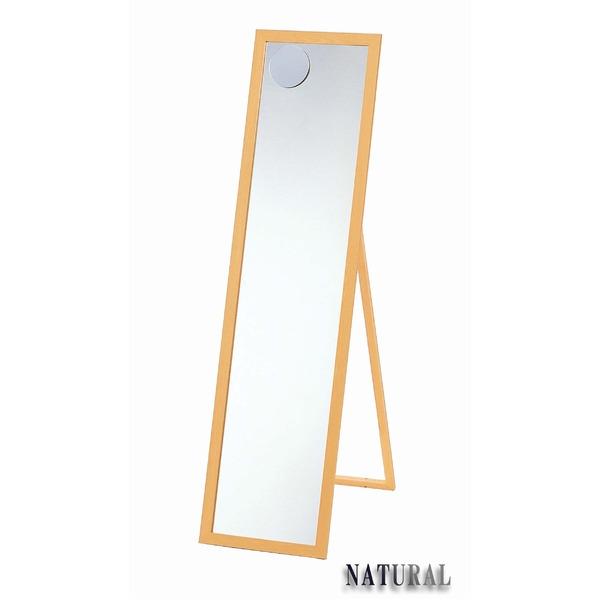 ミラー・鏡 関連商品 日本製【壁掛け鏡】ウォールミラー木製の鏡 ■拡大鏡付姿見 4尺(スタンド付) (ナチュラル)