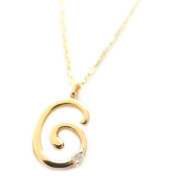 ダイヤモンド 関連商品 ナンバー ネックレス ダイヤモンド ネックレス 一粒 0.01ct K18 ゴールド 数字 6 ダイヤネックレス ペンダント
