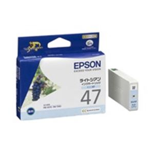 パソコン・周辺機器 (業務用40セット) エプソン EPSON IJインクカートリッジ ICLC47 ライトシアン 【×40セット】
