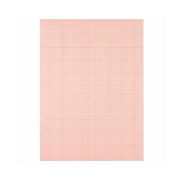 文具・オフィス用品 (まとめ) TANOSEE 模造紙(プルタイプ) 本体 788×1085mm 50mm方眼 ピンク 1ケース(20枚) 【×5セット】