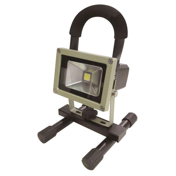 花 (業務用5個セット) trad 充電式LED投光器 防水/屋外用/省エネ/長寿命 JLW-10W