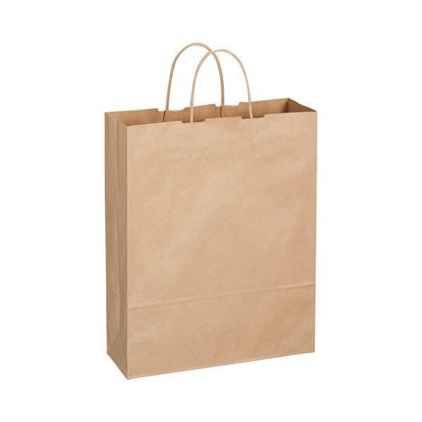 文具・オフィス用品 (まとめ) TANOSEE 紙手提袋 丸紐 大 ヨコ320×タテ400×マチ幅115mm 茶 1パック(50枚) 【×4セット】