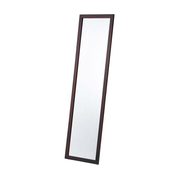 ミラー・鏡 関連商品 日本製【壁掛け鏡】ウォールミラー木製の鏡 ■姿見 4尺(ブラウン)/壁掛けヒモ付き