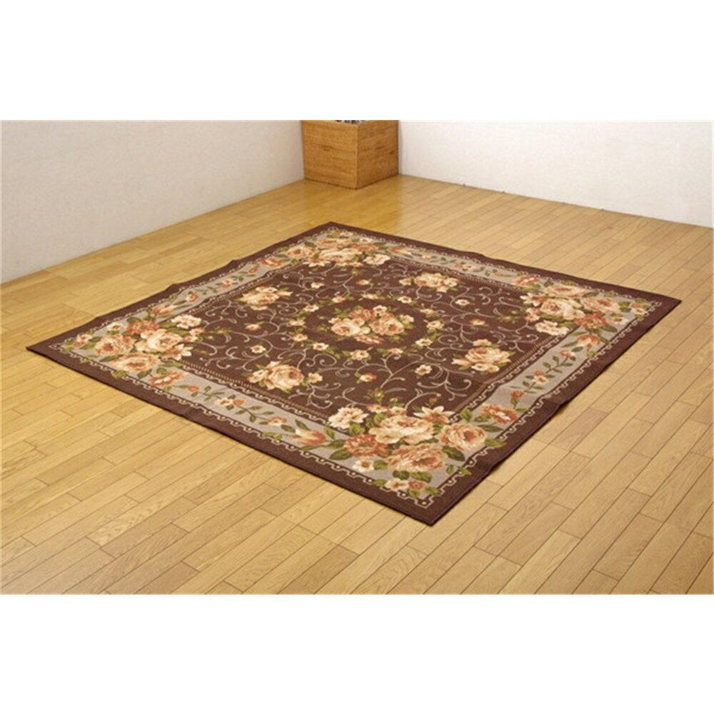 ダイニング 絨毯 カーペット 撥水カーペット カラー:ブラウン 江戸間10畳 サイズ:352x440cm