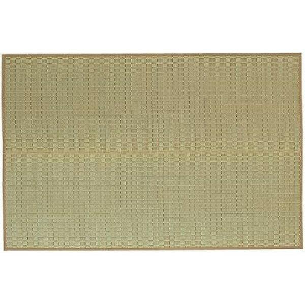 い草マット 素足に心地よいクッション性 便利な い草花ござ『松川』 ベージュ 261×352cm