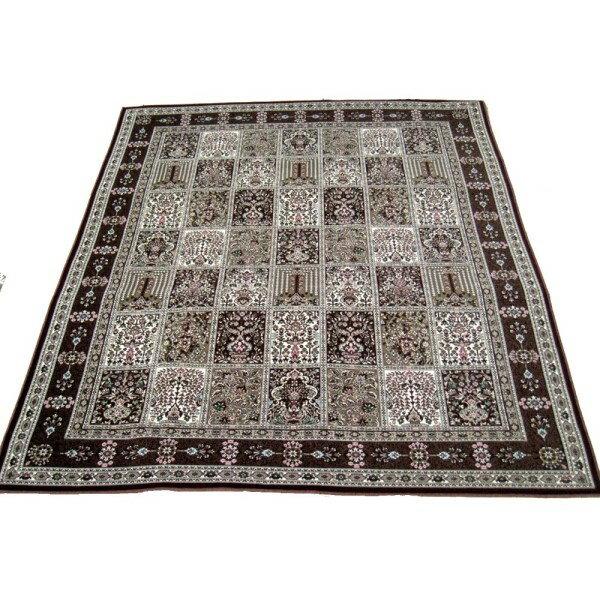 カーペット 床暖房 ホットカーペット お洒落 軽くて洗える 日本の織じゅうたん WI 240x240 4.5帖用 ワイン