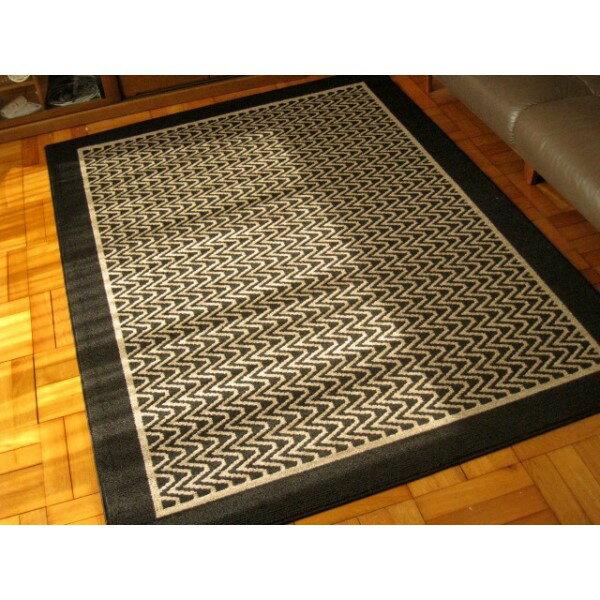正方形 食卓テーブル おしゃれ 遊び毛・毛玉の出ないダイニングカーペットブラック 220×250 日本製