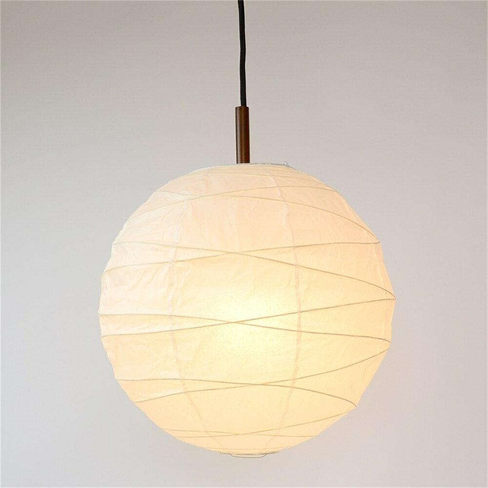 インテリア ライト 照明器具 白普通紙 和風照明 丸型ペンダントライト サイズ:60cm 2灯タイプ