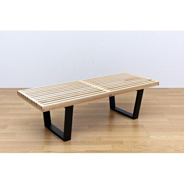 ダイニング用ベンチ いす ソファベンチ 食卓 ジョージネルソンのプラットホームベンチ!120幅 ライトブラウン
