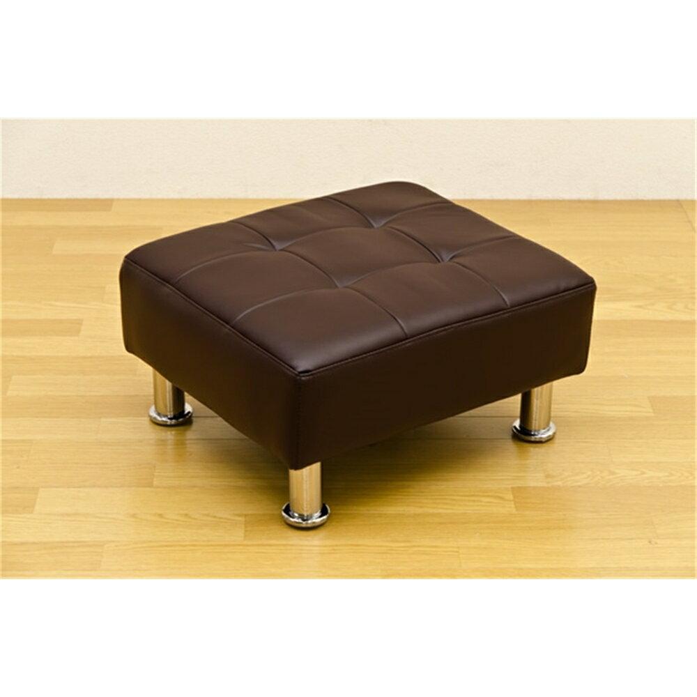 イス 椅子 ロ-タイプ オットマンスツール カラー:ブラウン