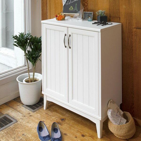 靴箱 棚 シューズラック シェルフ レトロ 感ある 甘さ を 抑えた 白い インテリア 木製 ウッドシェルフ Retria シューズラック
