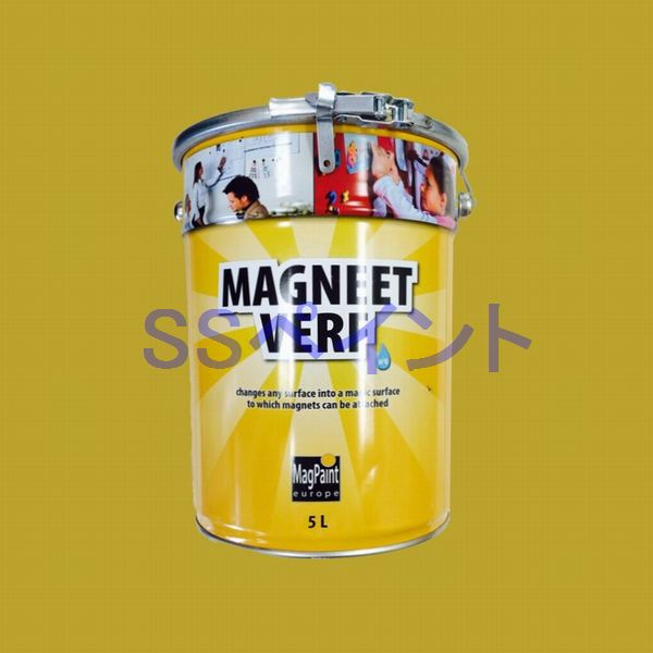 マグネットペイント 特殊塗料 マグペイント MAGNEET VERF 色:ダークグレー 5L(一斗缶サイズ)