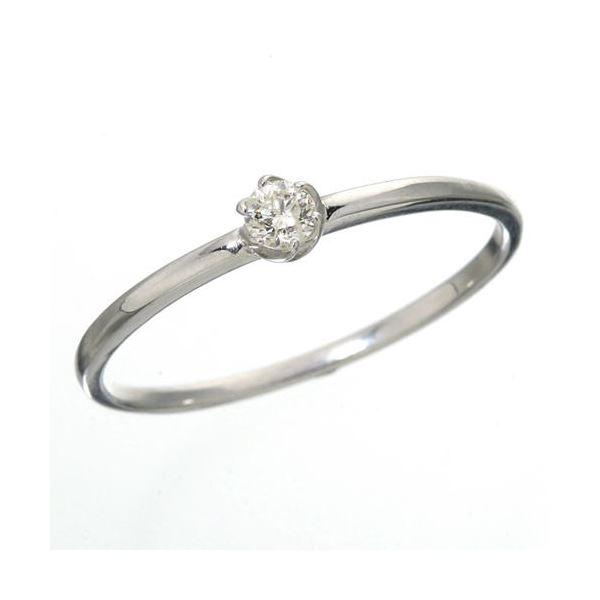 K18 ダイヤリング 指輪 シューリング ホワイトゴールド 7号