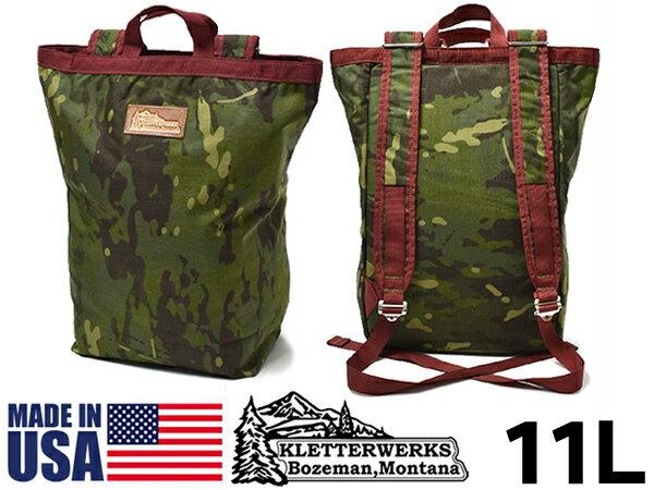 クレッターワークス トート 11L 男性用兼女性用 KLETTERWERKS TOTE メンズ レディース デイパック カバン かばん 鞄 バッグ バック リュック バックパック マルチカムトロピカル(01-60390222)
