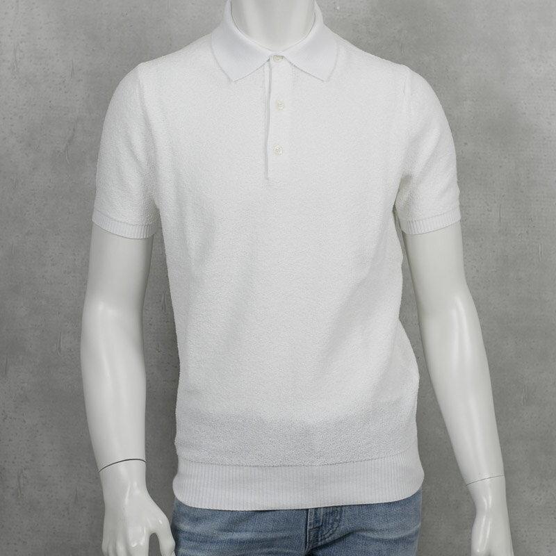 ANDREA FENZI|アンドレアフェンツィ 両面極上パイル ポロシャツ ホワイト カットソー