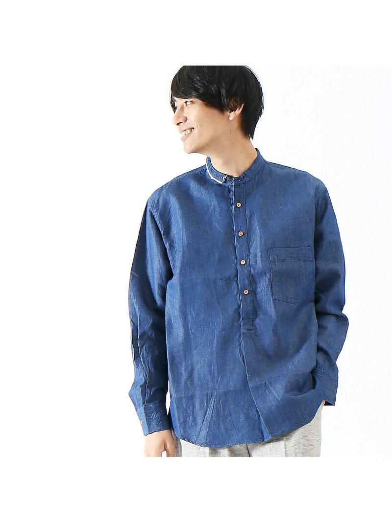 ABAHOUSE 【AT-SCELTA/原宿店限定】Cotton linen shirt アバハウス【送料無料】