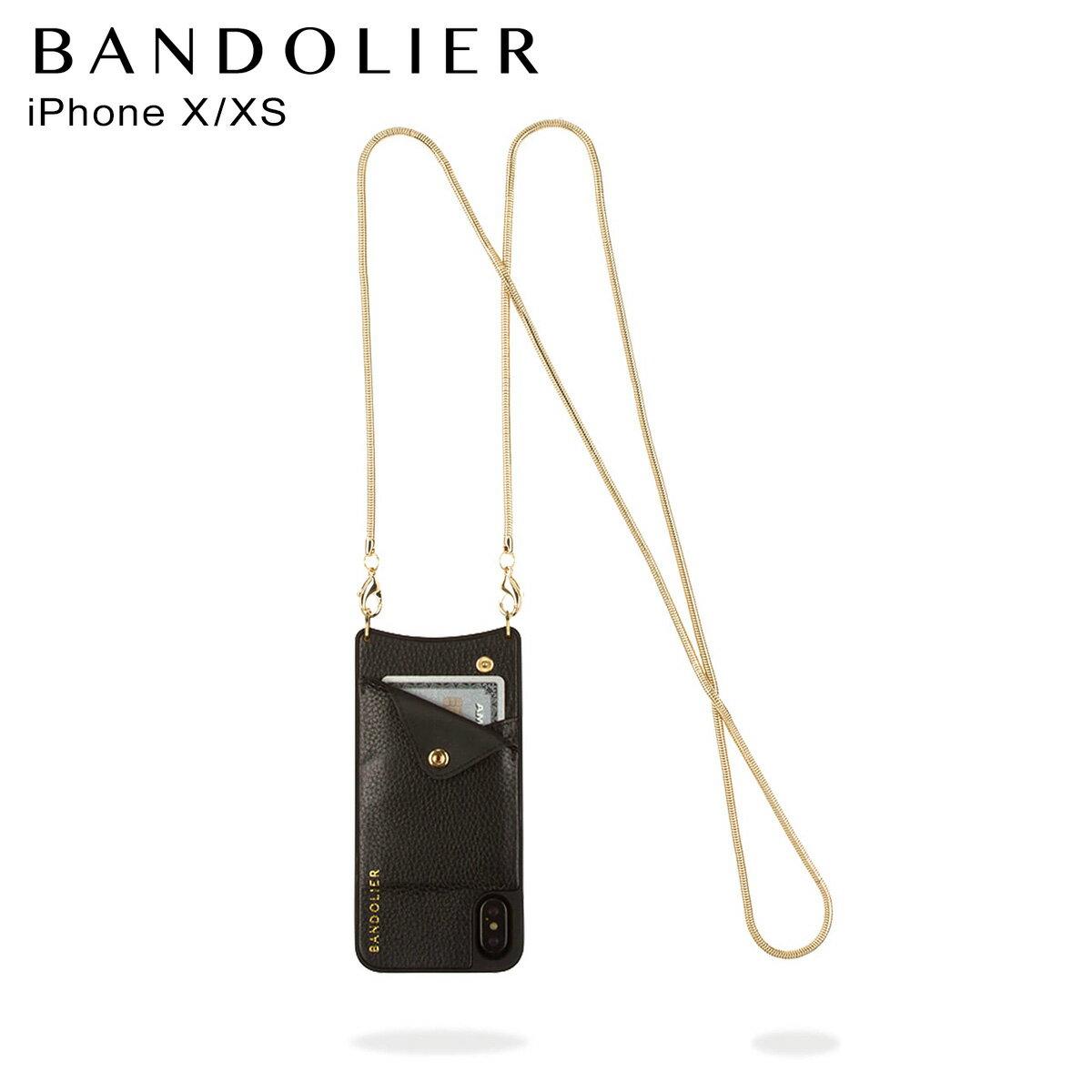 バンドリヤー BANDOLIER iPhoneX ケース スマホ アイフォン BELINDA GOLD レザー メンズ レディース [予約商品 11/15頃入荷予定 新入荷]