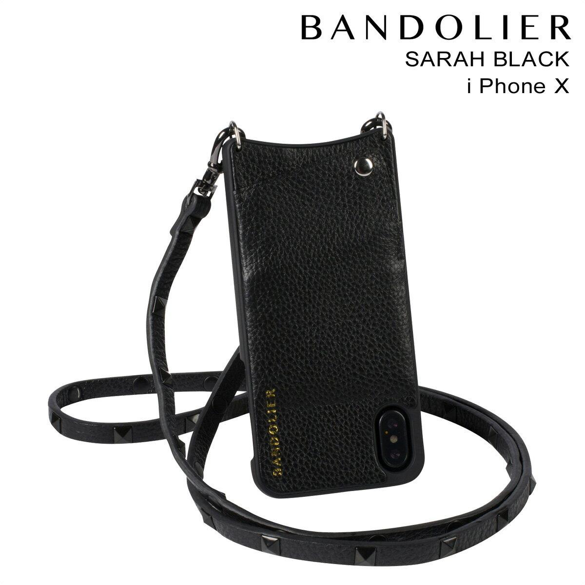 バンドリヤー BANDOLIER iPhoneX ケース スマホ アイフォン SARAH BLACK レザー メンズ レディース [予約商品 11/15頃入荷予定 新入荷]