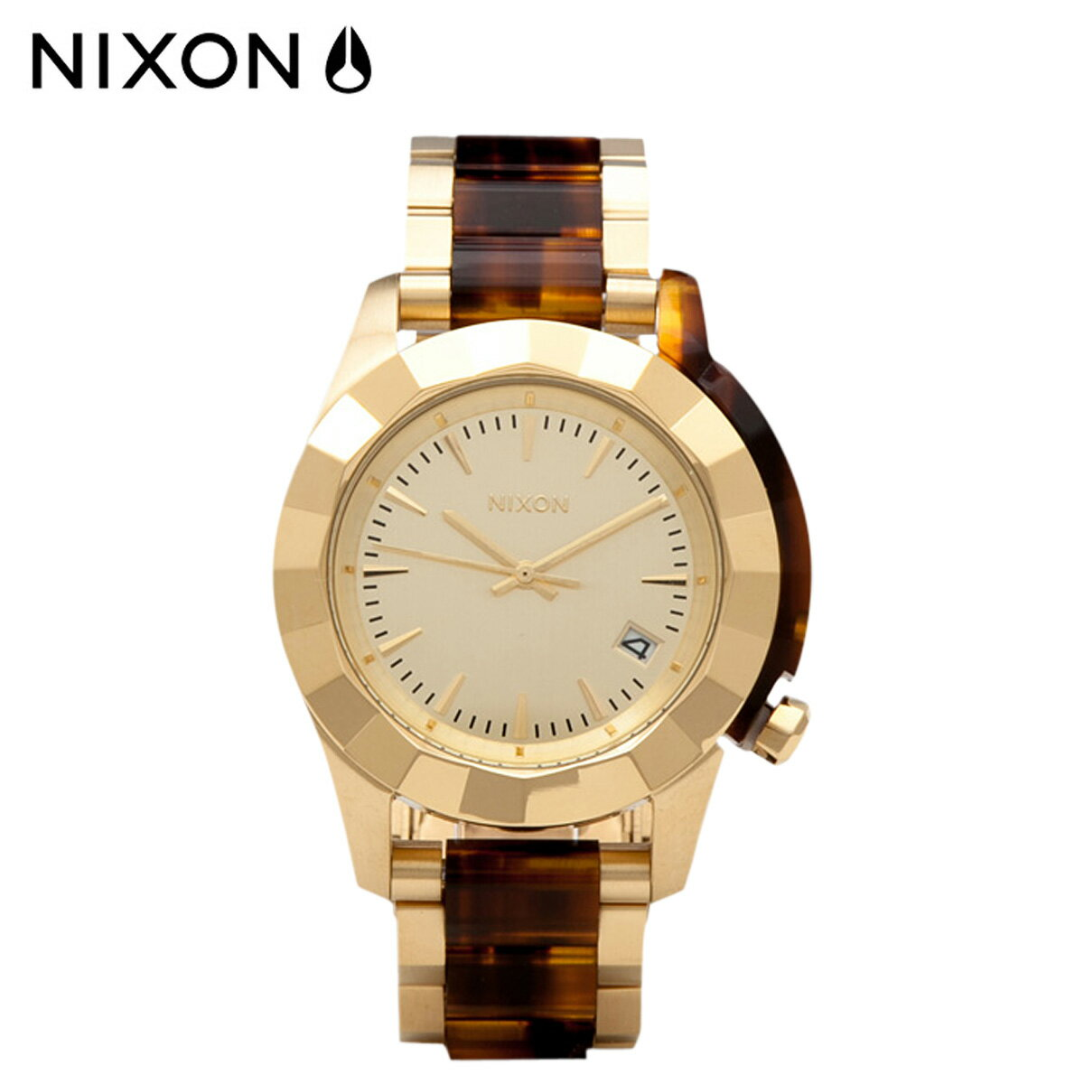 ニクソン メンズ腕時計(アナログ)(ゴールド/金色 …