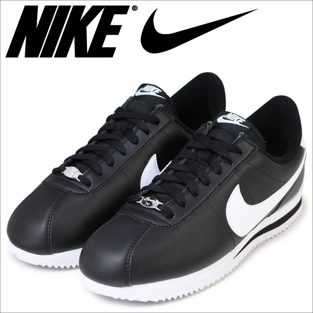 NIKE ナイキ コルテッツ スニーカー CORTEZ BASIC LEATHER 819719-012 メンズ 靴 ブラック
