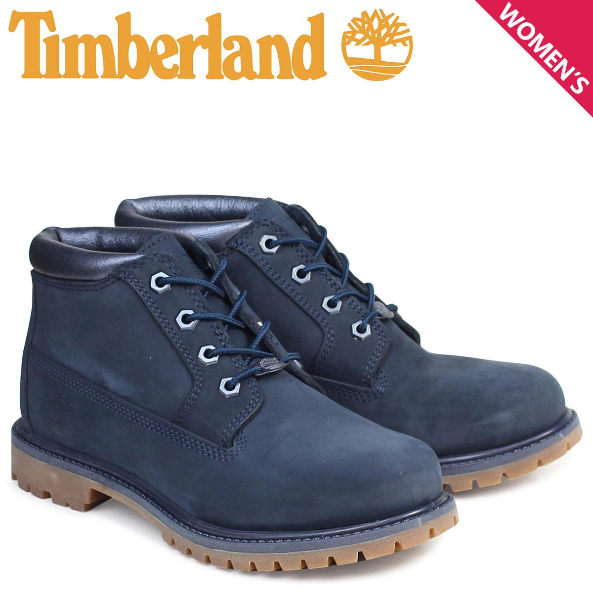 ティンバーランド ブーツ レディース チャッカ Timberland  NELLIE CHUKKA DOUBLE WATERPROOF BOOTS  ネリー ダブル A1K9I Wワイズ ネイビー 防水