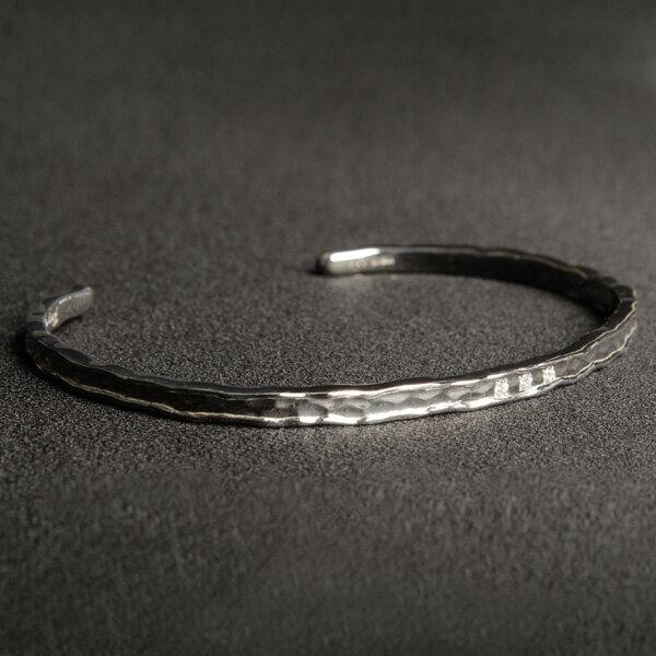 バングル ブレスレット K18 2mm幅 Per noi ペルノイ ホワイトゴールド ダイヤモンド