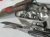 プロ鉄板職人業務用、ブラックカービングナイフ、フォークセット 1他