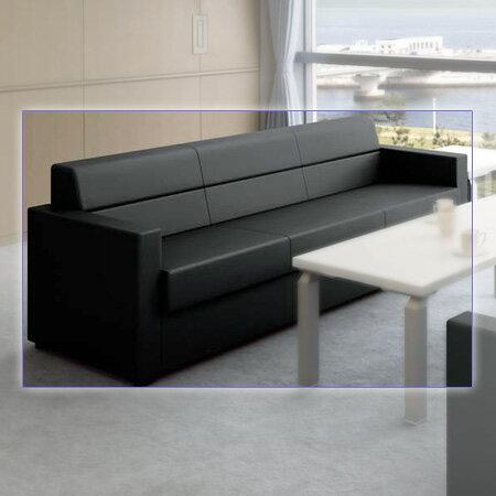 NAIKI (ナイキ) 応接セット ZRE152型 ソファー ZRE152L 【幅1830mm×奥行760mm×高さ700mm】【ビニールレザー張り: 2色】