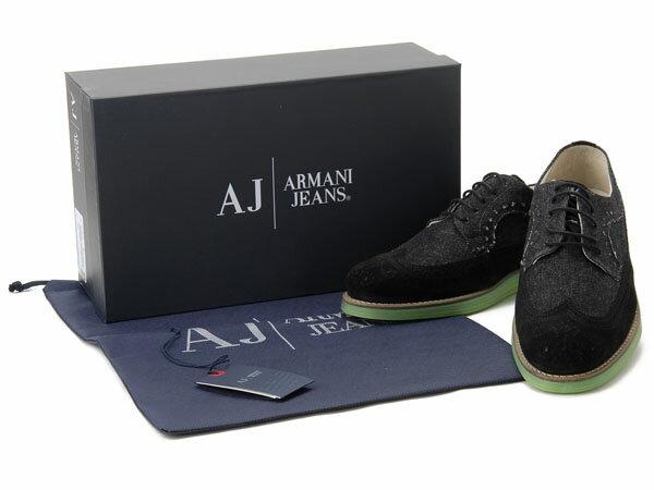 アルマーニ ジーンズ ARMANI JEANS カジュアルシューズ #39 メンズ靴 スニーカー ブラック
