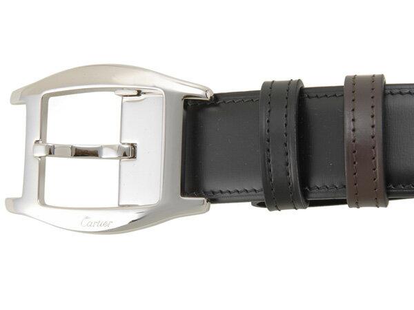 カルティエ Cartier ベルト 5000387 ブラック×ボルドー メンズ