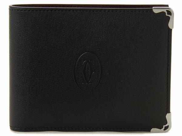 カルティエ Cartier 二つ折り財布 L3001369 マスト ブラック