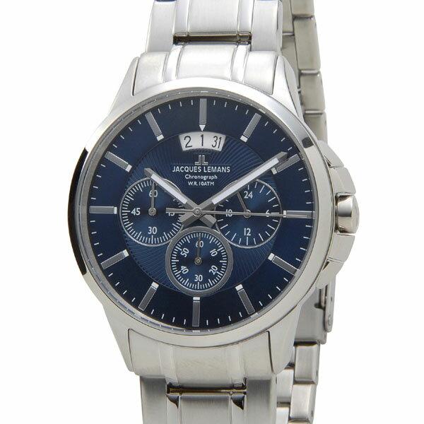 ジャックルマン JACQUES LEMANS 1-1542I シドニー クロノグラフ デイト メンズ 腕時計 ブルー