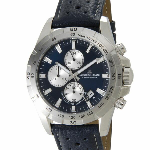 ジャックルマン JACQUES LEMANS 1-1826C リバプール クロノグラフ デイト メンズ 腕時計 ブルー