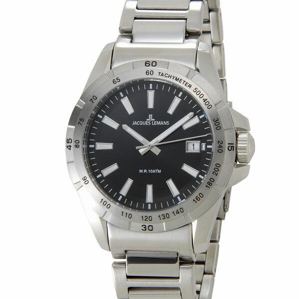 ジャックルマン JACQUES LEMANS 1-1903A リバプール デイト メンズ 腕時計 ブラック