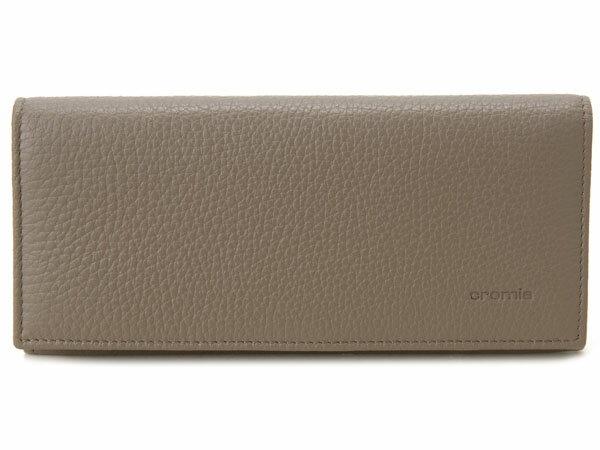 卸売オンライン用 クロミア cromia 長財布 2400026-DS イタリアレザー ベージュグレー×イエロー