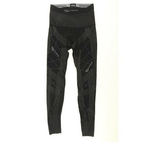 スタイリッシュブラック(STYLISH BLACK) SPiDER HOT ロングタイツ 786W3UT2220 BK/BK  (Men's)
