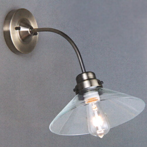 後藤照明電柱型ブラケット真鍮ブロンズ鍍金(透明)(付属電球無し)屋内用