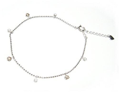 【予約】ブラウン&ホワイトコンビ計0.52ctブラウンダイヤ&ダイヤブレスレット