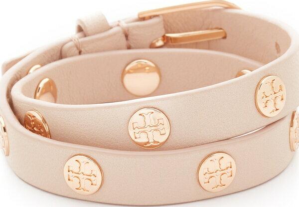 (取寄)トリーバーチ ダブル ラップ ロゴ スタッズ ブレスレット Tory Burch Double Wrap Logo Stud Bracelet【コンビニ受取対応商品】