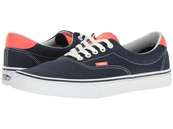 (取寄)Vans(バンズ) スニーカー エラ 59  ユニセックス メンズ レディース Vans Era 59  (Neon Leather) Dress Blues/Neon Red