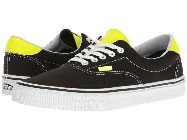 (取寄)Vans(バンズ) スニーカー エラ 59  ユニセックス メンズ レディース Vans Era 59  (Neon Leather) Black/Neon Yellow