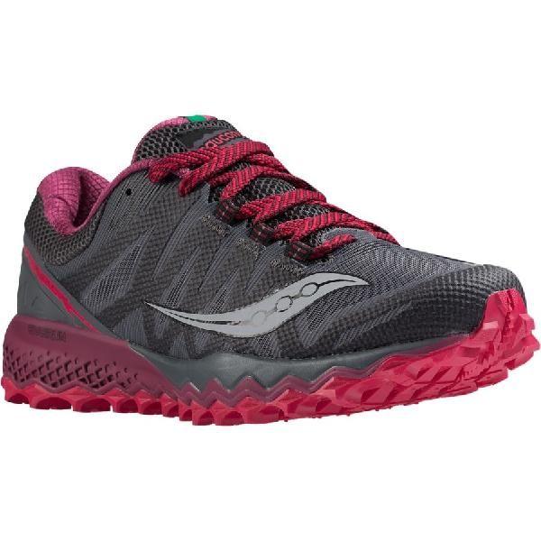 (取寄)サッカニー レディース ペレグリン 7トレイル ランニングシューズ Saucony Women Peregrine 7 Trail Running Shoe Grey/Berry