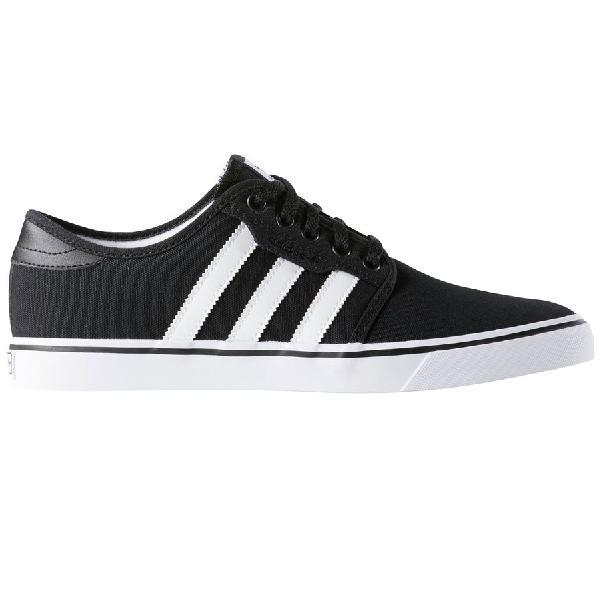 (取寄)アディダス メンズ シーリー シューズ Adidas Men's Seeley  Shoe Black/White/Gum Canvas