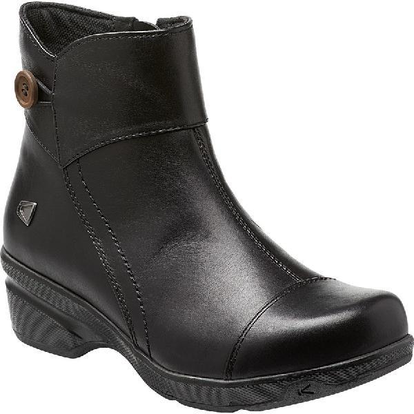 (取寄)キーン レディース モラ ミッド ボタン ブーツ KEEN Women Mora Mid Button Boot Black