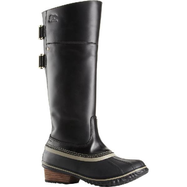 (�寄)ソレル レディース スリムパック ライディング トール 2 ブーツ Sorel Women Slimpack Riding Tall II Boot Black/Kettle