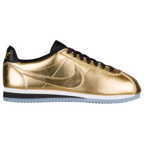 (取寄)Nike ナイキ レディース スニーカー クラシック コルテッツ Nike Women's Classic Cortez Metallic Gold Metallic Gold White Black
